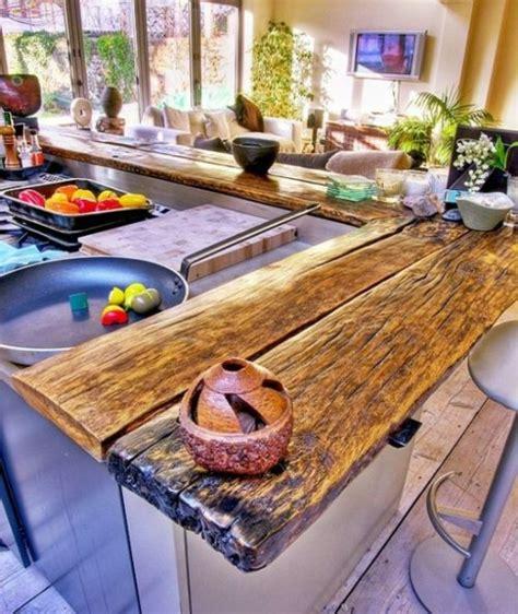 comptoir cuisine bois 68 idées pour un comptoir de cuisine en bois design
