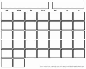 Calendar Grid Printable Blank Calendar With A Floating Grid Printable