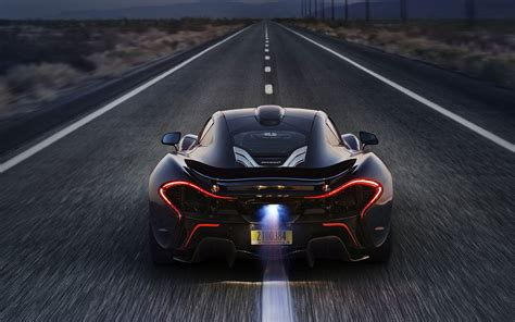 mclaren p flame  exhaust hd
