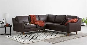 dallas corner sofa oxford brown premium leather madecom With leather sectional sofa dallas