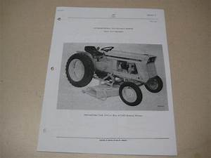 Cub Lo Boy 154 185 184 International 3260 Mower Parts