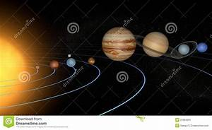 Solar System Planets Space Universe Sun Stock Image ...