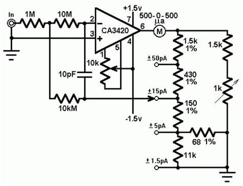 How Build Picoammeter Circuit With Ranges
