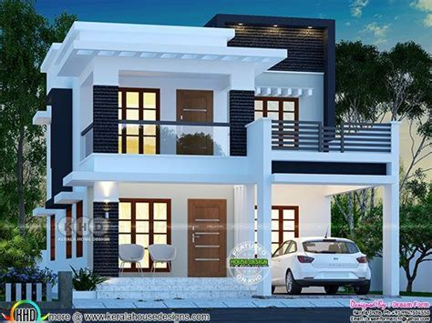lakhs cost estimated double storied home  storey house design kerala house design