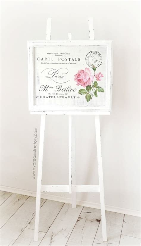 shabby chic easel diy a shabby chic wooden easel and a free french graphic for you