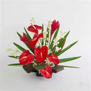 christmas gift baskets free shipping ahi 39 39 tropical anthurium and orchids