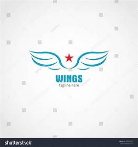 Vector Wings Logo Design Template Logo Stock Vector ...