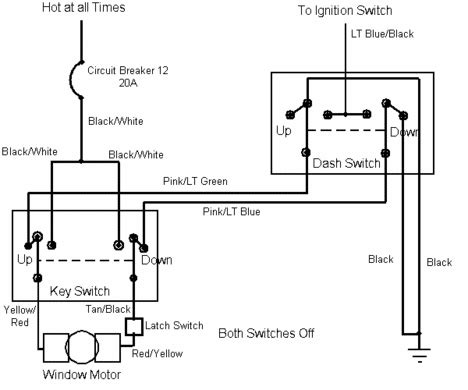 78 Ford Ignition Switch Wiring Diagram by Circuit For Tailgate Window Motor Road