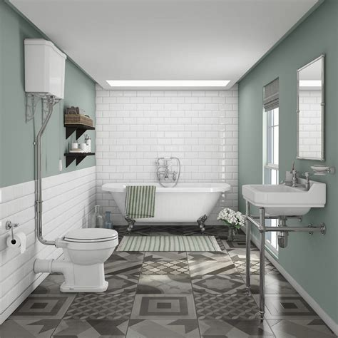 newbury traditional   wall roll top bath suite