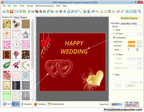 wedding cards maker software screenshots  create