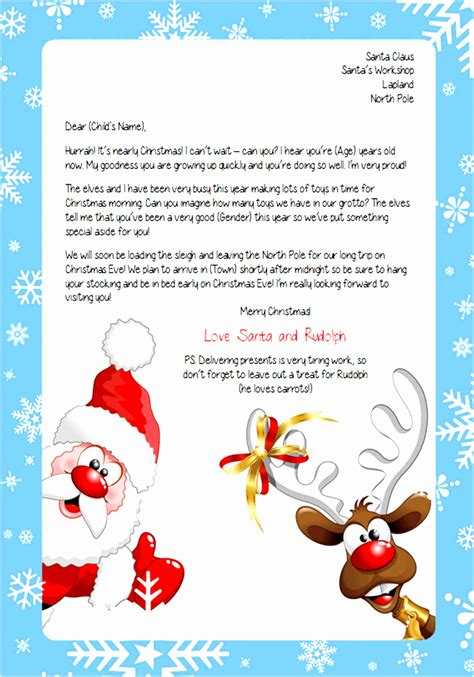 printable letter  santa claus template iytmt