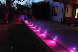 Fvtled 10pcs  Pack 12v Outdoor Led Deck Light Pavement
