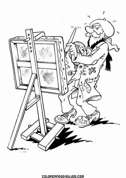 Colorear Arte Dibujo Pittore Colorare Disegno Pintor