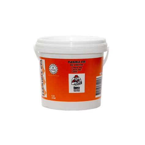 davco 1l white flexible cta tile adhesive bunnings warehouse