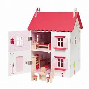 Maison D éveil : maison de poup es meubl e en bois oxybul pour enfant de 4 ans 8 ans oxybul veil et jeux ~ Teatrodelosmanantiales.com Idées de Décoration