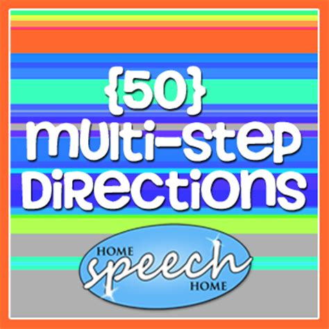 multi step directions  speech therapy practice
