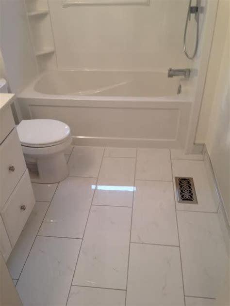 Small Bathroom Floor Tile Ideas by Tiles 12x24 Tile In A Small Bathroom 12x24 Bathroom Tile
