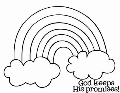 Coloring Pages Rainbow Printable Colouring Bible Sheets