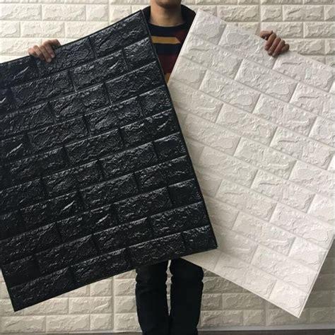 cm pe foam  stone brick wallpaper  color posters