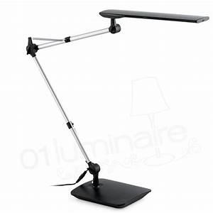 Lampe De Bureau Noire : lampe de bureau ito led noire bras flexible faro ~ Teatrodelosmanantiales.com Idées de Décoration