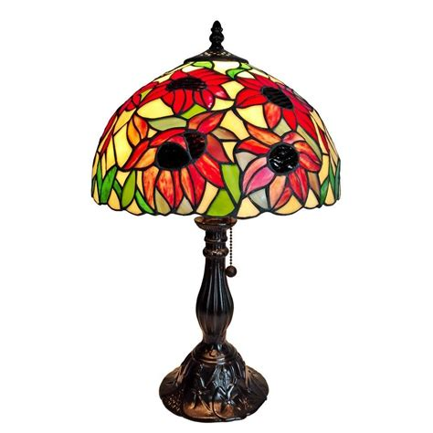 sunflower tiffany table l amora lighting 19 in tiffany style sunflower table l