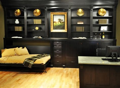 horizontal murphy bed traditional home office