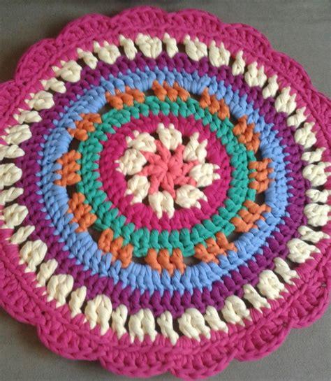 tapete redondo 50cm mandala colorido croch 234 fio de malha no elo7 d paula ateli 234 a3ee35