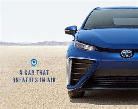 car ads toyota mirai fuel cell car s ad agency should study engine