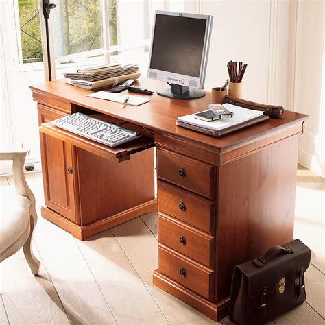 cachee bureau bureau multimédia style louis philippe merisier