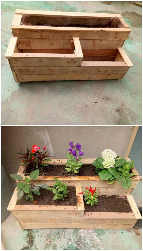 pallet planter box creative ways of turning pallets into unique