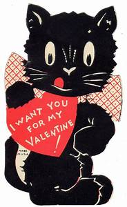 1930s Valentine black cat | Cats-Be My Valentine ...