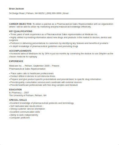sle pharmaceutical sales resume 7 exles in word pdf