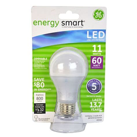 ge 11 watt a19 energy smart led general use bulb sam s club