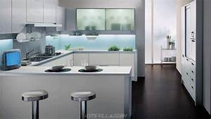 Interior design modern small kitchen decobizzcom for Interior designs of small kitchens