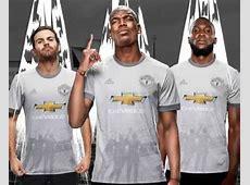 Grey Man Utd Shirt 20172018 New Manchester United Third