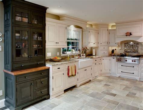 Garage Cabinets In Kitchen by Traditional Kitchen Custom Hutch Apron Sink Corner
