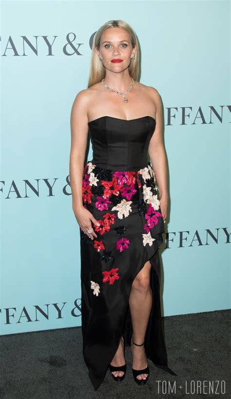 Reese Witherspoon in J. Mendel at the Tiffany & Co. Blue