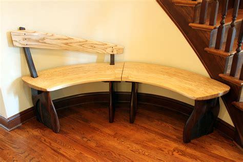 Curved Foyer Bench  Gold Splinter