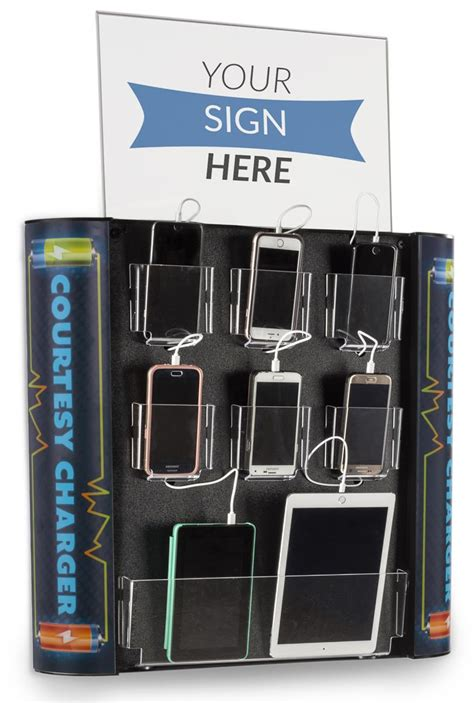 multi device charging kiosk lockable wall station