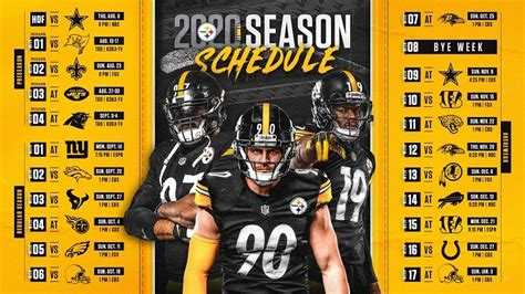 steelers  schedule includes  primetime games