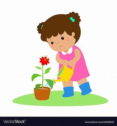 Watering Plants Cartoon Plant Clipart Clip Child