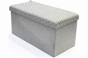 Banc Pliable Pas Cher : coffre rangement banc pliable gris losange dotty meuble de rangement pas cher ~ Teatrodelosmanantiales.com Idées de Décoration