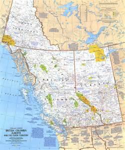 Yukon British Columbia and Alberta Map