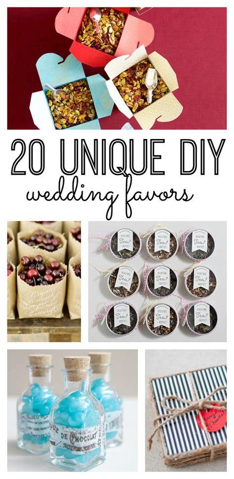 20 unique diy wedding favors us53