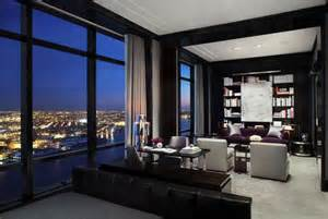 Small Apartment Living Room Design Ideas Striking Penthouse Adorning The 77th Floor Of The World Tower Freshome