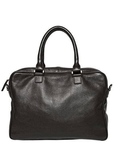 Armani Exchange Briefcase by Lyst Giorgio Armani Embossed Logo Grained Leather