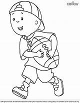 Caillou Coloring Cartoons Printable Library Halloween Cartoon Drawing Printables Coloringlibrary Sheets Football Activities Children Friends Adults Sketch Credit Larger Happy sketch template