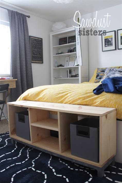 diy bench with storage compartments ikea nornas look alike sawdust