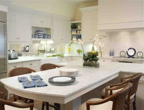 t shaped kitchen islands t shaped island white counter tops with an eat at bar 5969