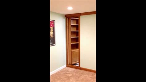 Hinged Bookcase by Mysteriously Opening Hinged Bookcase